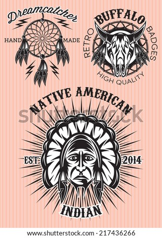 vector set of emblems on the