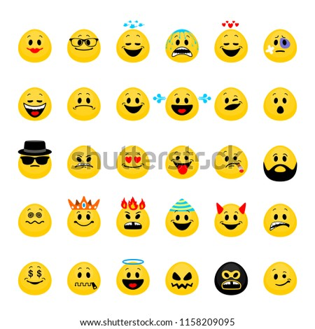 vector set of emoji collection