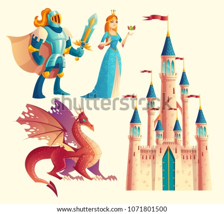 vector set of fantasy  fairy