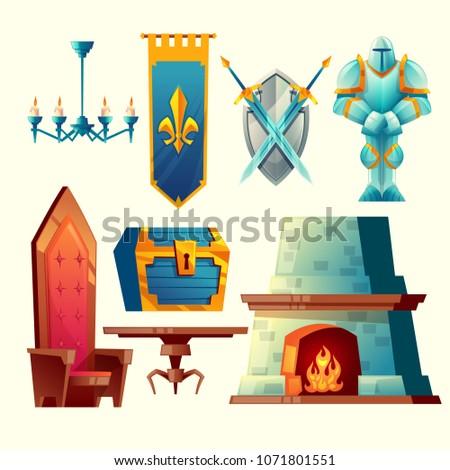 vector set of fantasy items