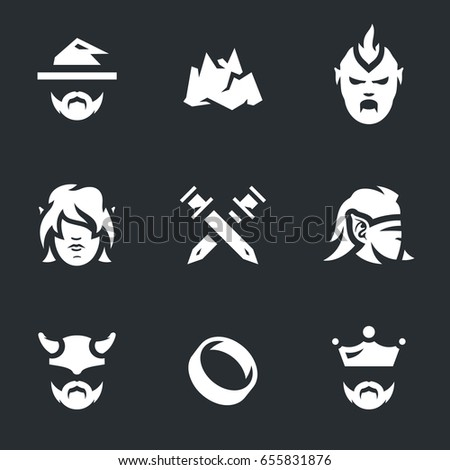 vector set of fantasy story