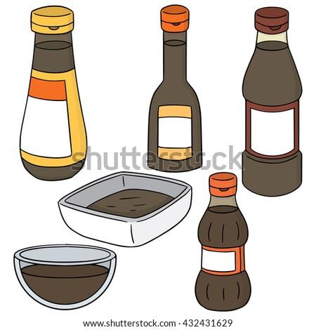 vector set of fish sauce