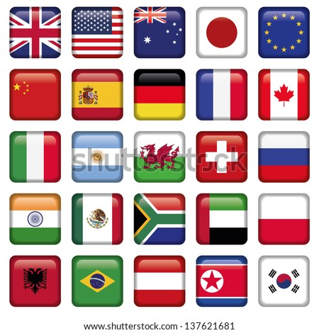 Vector set of Flags world top states #137621681