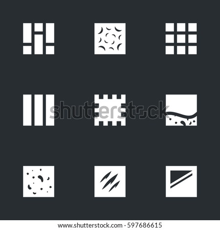 vector set of flooring icons
