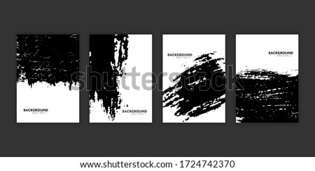 Vector set of flyer template book with grunge style.