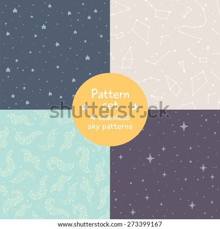 vector set of four cute