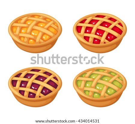 vector set of four fruit and