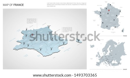 vector set of france country