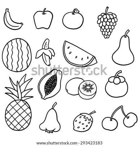 vector set of fruits