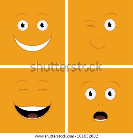 Vector set of funny cartoon characters