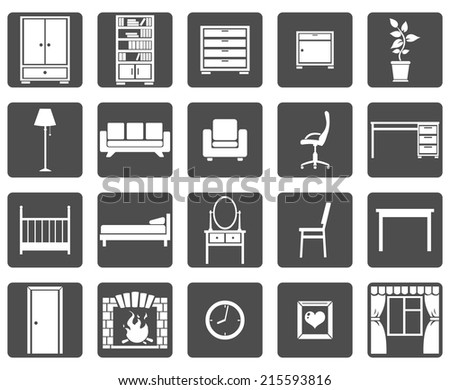 Vector Set of Furniture Icons