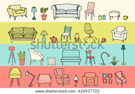 vector set of furniture of