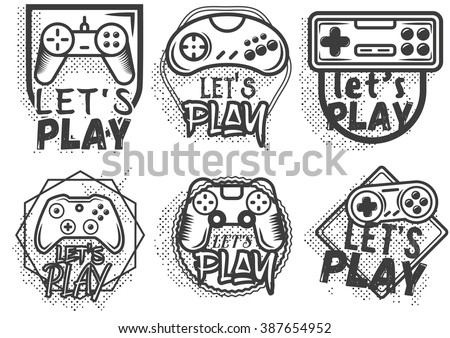 vector set of game play