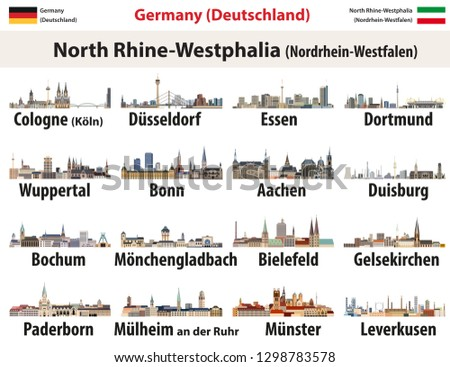 vector set of germany state