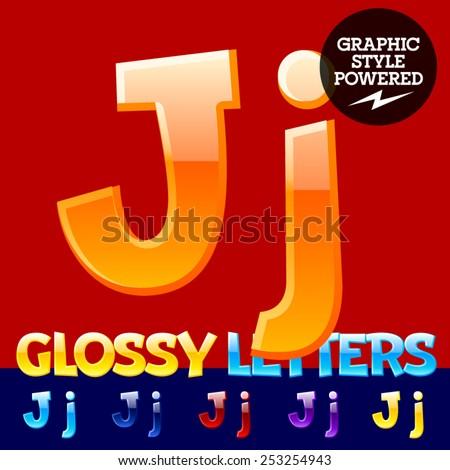 vector set of glossy modern