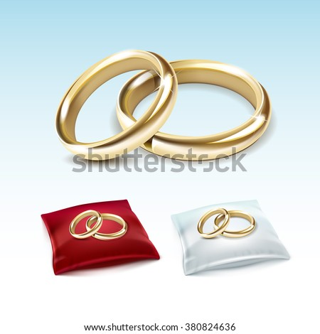 vector set of gold wedding