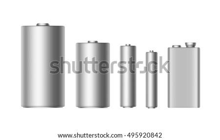 vector set of gray silver