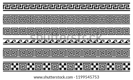 vector set of 6 greek style
