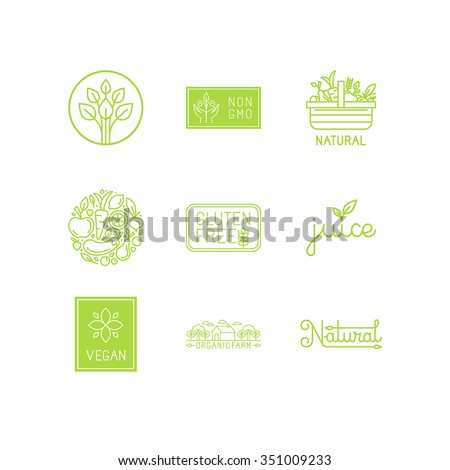 vector set of green and organic