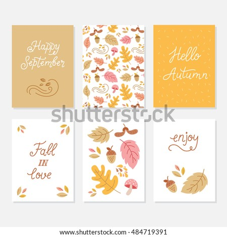vector set of greeting cards