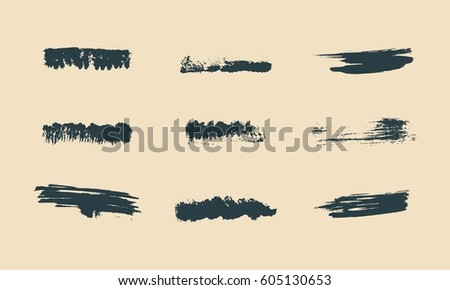 vector set of grunge artistic