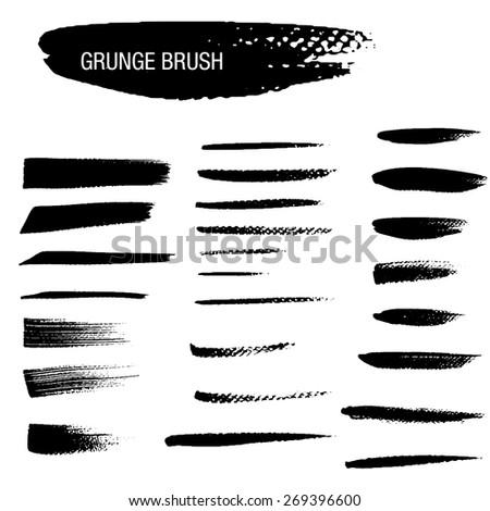 Vector set of grunge brush strokes 4 #269396600