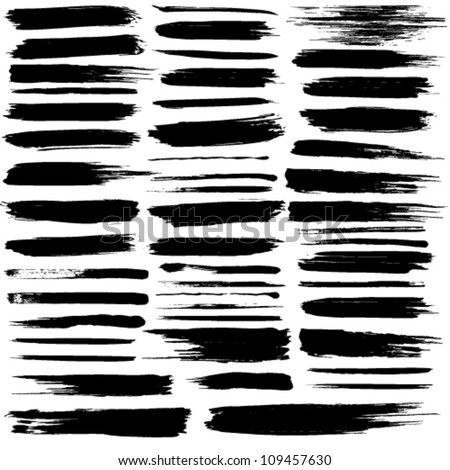 Vector set of grunge brush strokes. Jpeg version also available in gallery.