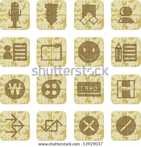 vector set of grungy modern...