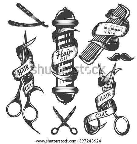 vector set of hair salon vector ...