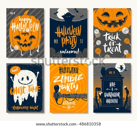 vector set of halloween