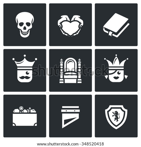 vector set of hamlet tragedy