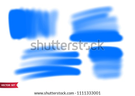 Vector set of hand drawn airbrush strokes. One color artistic hand drawn backgrounds.