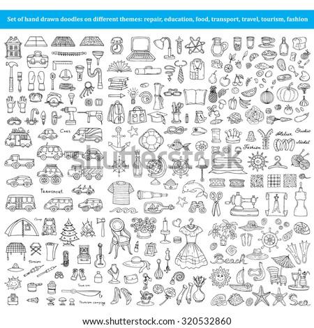 vector set of hand drawn