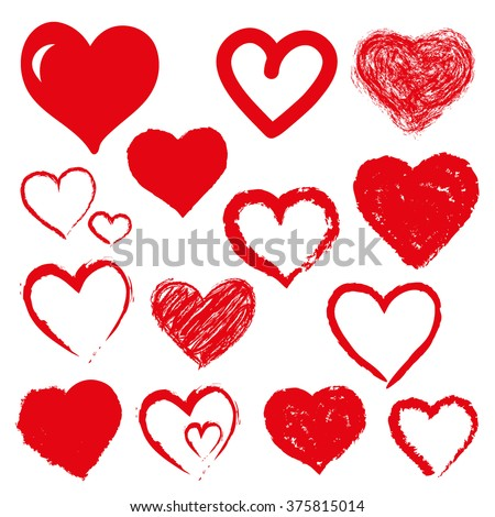 stock-vector-vector-set-of-hand-drawn-hearts-red-color