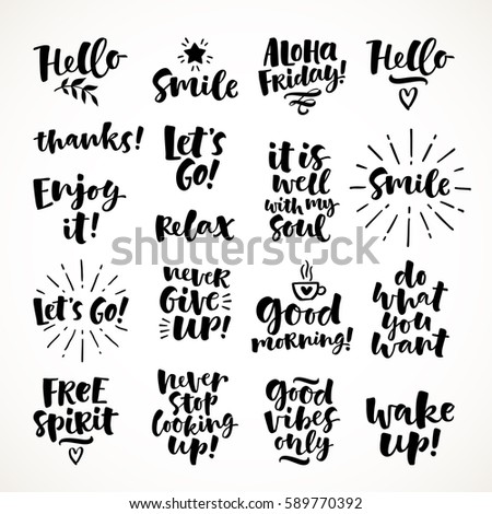 vector set of hand drawn