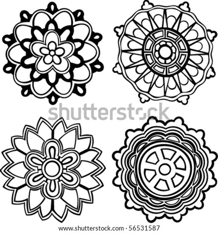 Native American Stencil Patterns http://www.shutterstock.com/pic-56531587/stock-vector-vector-set-of-hand-drawn-stylized-medallion-patterns-to-incorporate-into-your-design.html