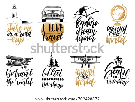 vector set of hand lettering