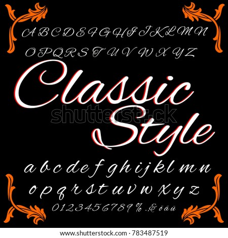 Vector set of handcrafted ABC letters hand drawn fonts handwritten alphabets