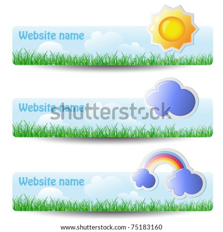 vector set of headers