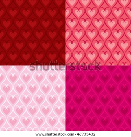 Vector set of heart patterns
