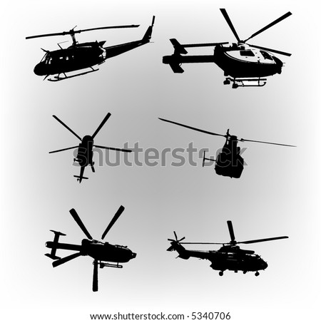 vector set of helicopters