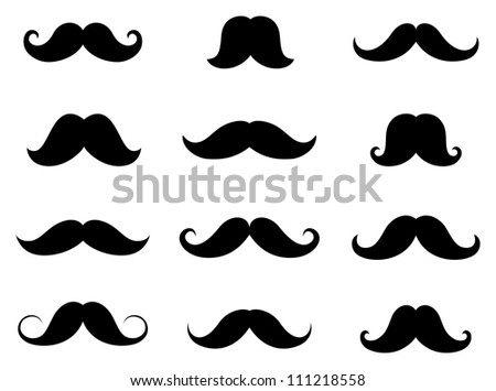 Shutterstock Vector set of hipster mustache