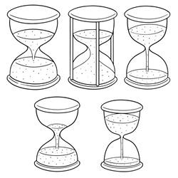 vector set of hourglass