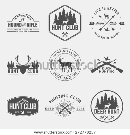 vector set of hunting club