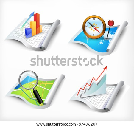 vector set of icons - stock vector