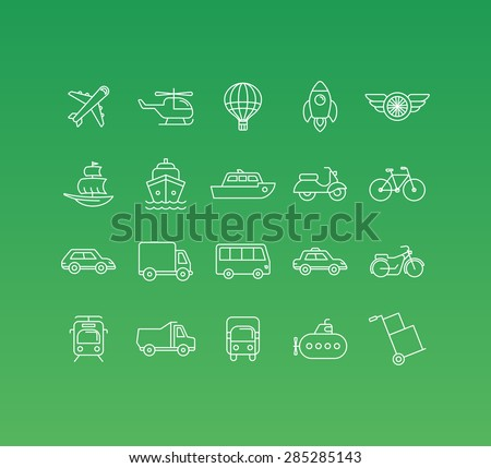 vector set of 20 icons and sign