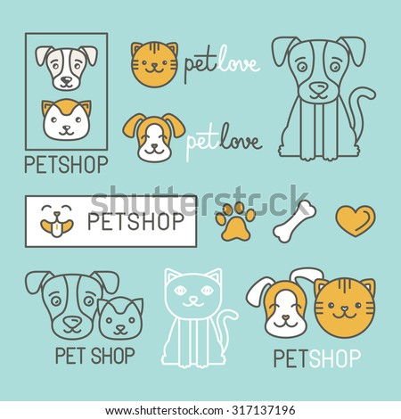 vector set of icons  character