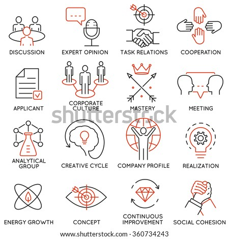 vector set of 16 icons related
