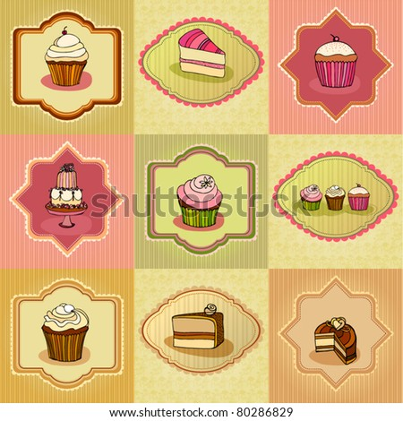 vector set of illustrated cute