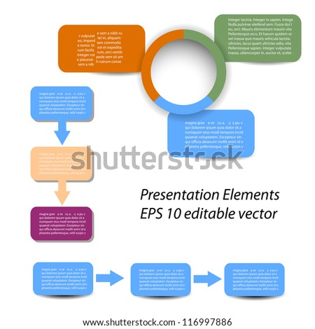 Vector set of Infographic and presentation elements for your documents and reports